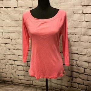 Talbots Bateau neck 3/4 sleeve top